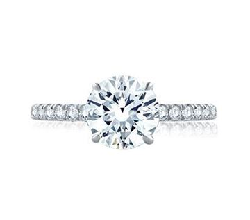 A. JAFFE Statement Round Quilted Engagement Ring ME1865Q