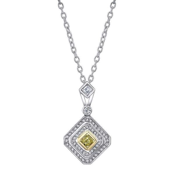 NINACCI Couture Collection Pear Shape Double Halo Drop Diamond Necklace 22470