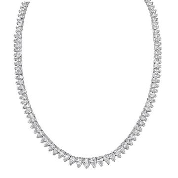NINACCI Tennis Necklace Featuring 117 Pear Shaped Diamonds
