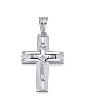 Endless Design Handmade Cross Pendant Featuring Jesus Sold Through Bayside Jewelers in Bellingham WA