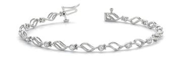 70534 In-Line Prong Set Diamond Bracelet with Round Diamonds, Can Customize by Metal and Diamond Size, Sold Through Bayside Jewelers, Bellingham WA