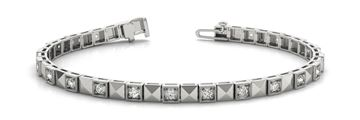 70296 Pattern In-Line Prong Set Diamond Bracelet with Round Diamonds, Can Customize by Metal and Diamond Size, Sold Through Bayside Jewelers, Bellingham WA