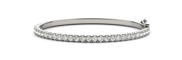 70485 Overnight Mountings Traditional Diamond Bangle Bracelet, Can Customize by Metal and Diamond Size, Sold Through Bayside Jewelers, Bellingham WA