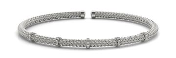 70523 Overnight Mountings Italian Made Diamond Bangle Bracelet, Can Customize by Metal and Diamond Size, Sold Through Bayside Jewelers, Bellingham WA