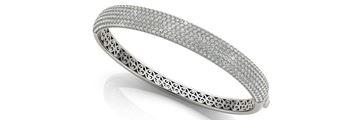 70012 Overnight Mountings Multi Row Diamond Bangle Bracelet, Can Customize by Metal and Diamond Size, Sold Through Bayside Jewelers, Bellingham WA