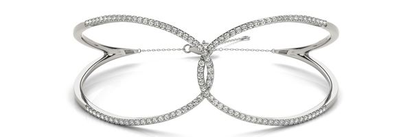 70484 Overnight Mountings Multi Row Diamond Bangle Bracelet, Can Customize by Metal and Diamond Size, Sold Through Bayside Jewelers, Bellingham WA