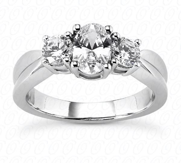 ENR308 Three Stone Diamond Engagement Ring Designed by Unique Settings of New York, Sold by Bayside Jewelers in Bellingham, WA