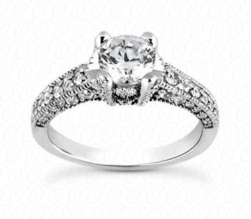 ENR817 Round Diamond Engagement Ring by Unique Designs of New York, Sold by Bayside Jewelers