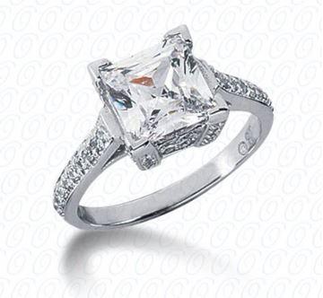 ENR2952 Fancy Cut Emerald Cut Diamond Engagement Ring by Unique Designs by New York