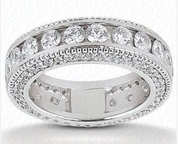 EWB293 Eternity Diamond Wedding Band by Unique Settings of NY