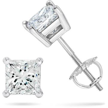 NINACCI Emerald Cut Diamond Earrings R16565 Sold by Bayside Jewelers
