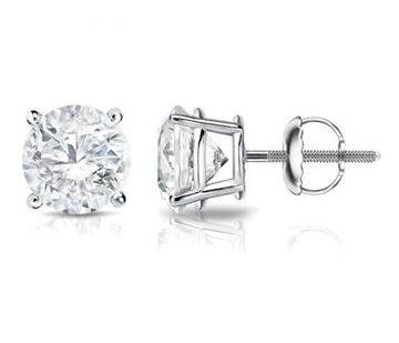 NINACCI Round Cut Diamond Stud Earrings R16449 sold by Bayside Jewelers