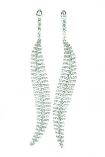 NINACCI Dangle Curvy Diamond Earrings 26760 sold by Bayside Jewelers