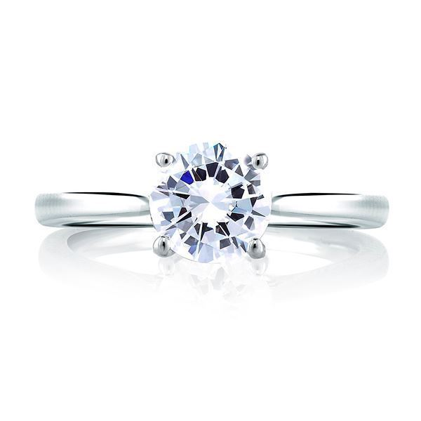 A. JAFFE Art Inspired Solitaire Engagement Ring