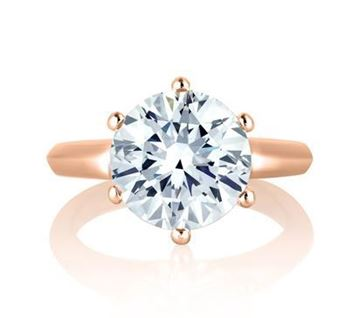A. JAFFE Classic 6 Prong Solitaire Diamond Engagement Ring