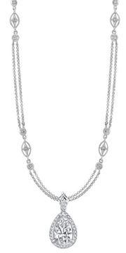 NINACCI Couture Collection Pear Shape Halo Drop Diamond Necklace 22871