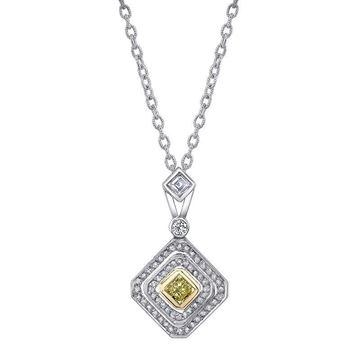 NINACCI Couture Collection Pear Shape Double Halo Drop Diamond Necklace 22470