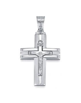 Endless Design Handmade Cross Pendant Featuring Jesus Sold Through Bayside Jewelers in Bellingham WA