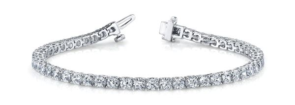 Overnight Mountings In Line Prong Set Diamond Tennis Bracelet, can be customized, sold through Bayside Jewelers in Bellingham WA.