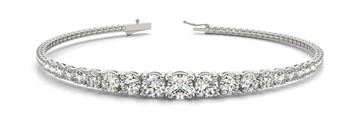70508  In-Line Prong Set Diamond Bracelet with Round Diamonds, Can Customize by Metal and Diamond Size, Sold Through Bayside Jewelers, Bellingham WA