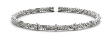 70523 Overnight Mountings Italian Made Diamond Bangle Bracelet, Can Customize by Metal and Diamond Size, Sold Through Bayside Jewelers, Bellingham WA