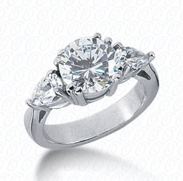 ENR2643 Three Stone Diamond Engagement Ring designed by Unique Settings of New York, Sold by Bayside Jewelers in Bellingham, WA