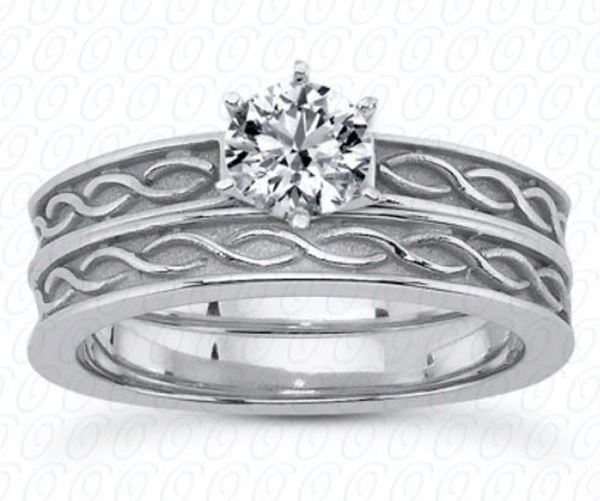ENS3615 Celtic Engagement Ring Set by Unique Settings of NY