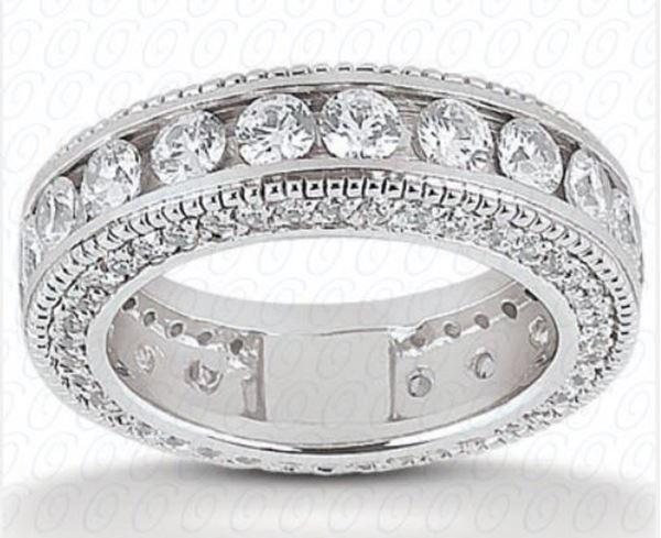 EWB293 Eternity Diamond Wedding Band by Unique Settings of NY