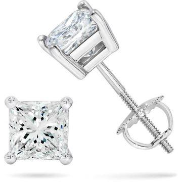 NINACCI Emerald Cut Diamond Earrings R16565 Sold by Bayside Jewelers