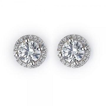 NINACCI Halo Round Cut Diamond Earrings 27436 sold by Bayside Jewelers