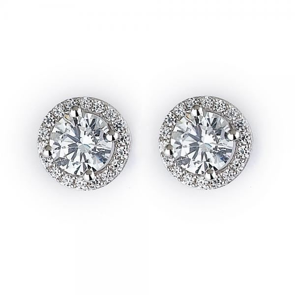 NINACCI Halo Round Cut Diamond Earrings 27436 sold by Bayside Jewelers