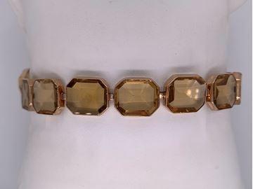 Picture of Unusual Emerald-cut Citrine Bracelet
