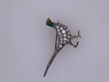 Picture of Rare Sterling Silver Pheasant Brooch