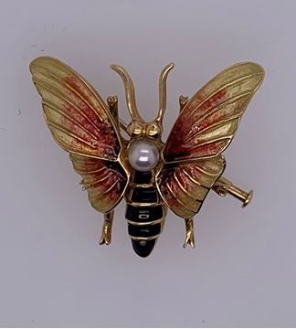 Picture of 18K Yellow Gold Wasp Brooch