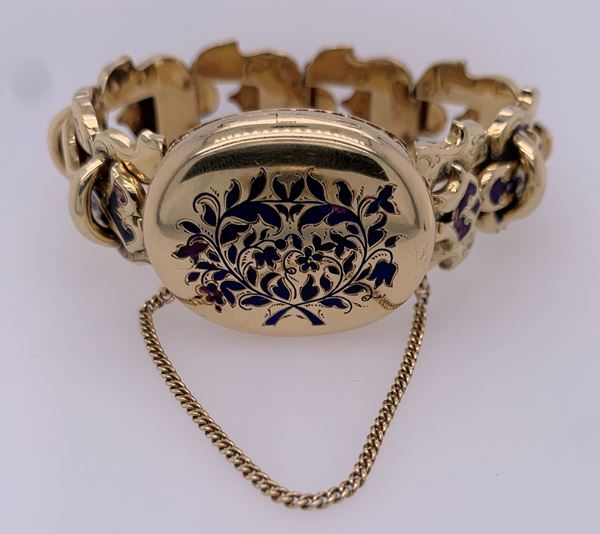 Picture of 14K Yellow Gold Locket Bracelet