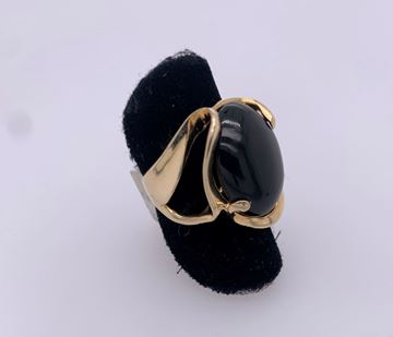 Picture of 14K Yellow Gold Onyx Ring