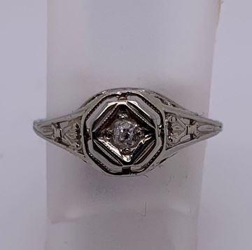 Picture of 14K White Gold Lady's Ring