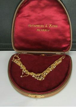 Picture of Victorian 1906 Italian 18k Gold & Pearl Choker Necklace - Gelsomini & Lona