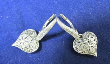 Picture of Tacori Sterling Silver & CZ Heart Earrings