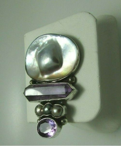 Picture of Sterling Silver Fresh Water Pearl Brooch/Pendant