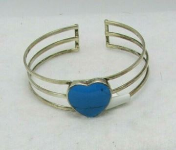 Picture of Sterling Silver Turquois Heart Bracelet