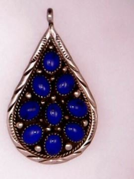 Picture of Sterling Silver Lapis Lazuli Pendant