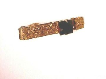 Picture of 14K Jade w/ Natural Gold Nuggets Tie Pin