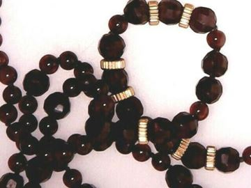 """Picture of 27"""" Vermeil Garnet Necklace w/ Sterling Silver Clasp"""