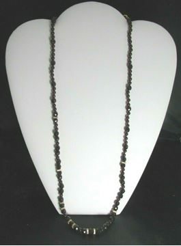 "Picture of 27"" Vermeil Garnet Necklace w/ Sterling Silver Clasp"