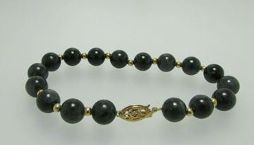 "Picture of 8"" 14K Agate Bracelet"