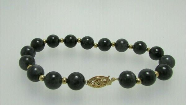 "Picture of 8"" 14K Agate Bracelet"