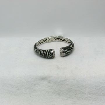 "Picture of 7 1/2"" Raquelle Bianco Sterling Silver Diamond Cuff Bracelet"