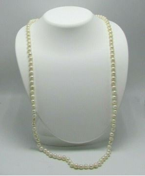 """Picture of 30"""" Pearl Necklace w/ 14K Gold Clasp"""