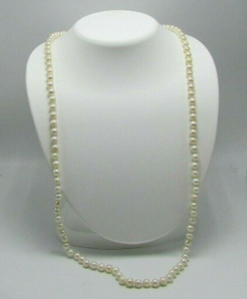 "Picture of 30"" Pearl Necklace w/ 14K Gold Clasp"